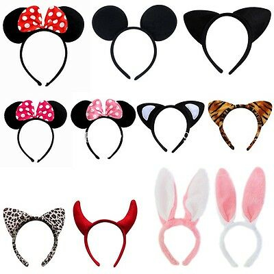 Cute Minnie Mouse Animal Serre-tête Oreilles Filles Mickey Costume Déguisement