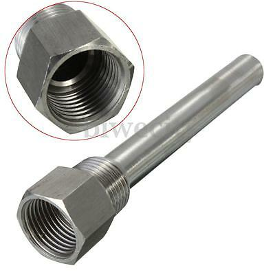 Stainless Steel 201 Thermowell Sleeve 1/2'' NPT Thread For Temperature Sensor