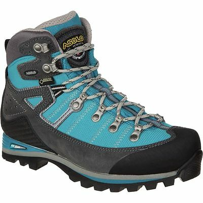 Asolo Karaj Hiking Boots BRAND NEW Women's Size 6.5 Graphite/Blue Peacock