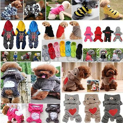 Pet Dog Winter Clothes Jumpsuit Puppy Cat Jumper Warm Hoodie Jacket Apparel