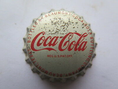 Crown Seal Bottle Cap Top Coca Cola Coke Beaumont Texas Usa Excellent Unused