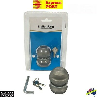 Trailer Coupling Lock Hitch 50mm Tow Ball Car Caravan Theft FASTPOST & WARRANTY