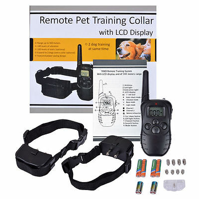 300M Ultrasound Remote Pet Training Collar Bark Control Dog Silencer Clickers