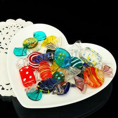 12Pcs Vintage Colorful Murano Glass Sweets Candy Wedding Party Christmas Decor