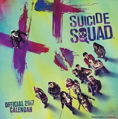 Suicide Squad Official 2017 Square Calendar Calendar New Book Free UK Delivery