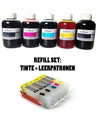 CISS Fill In Patronen + 500ml Sudhaus ink Tinte für Canon MG5753 PGI570 CLI571