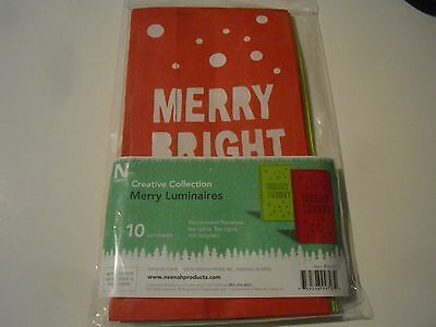 New ! Creative Collection Merry Luminaries Make 10 for Christmas Gift