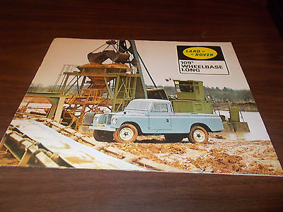 "1960s Land Rover 109"" Wheelbase 10-page Color Sales Catalog"