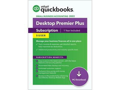 5 user QuickBooks Premier 2021 for PC - check our 3500+ POSITIVE REVIEWS!