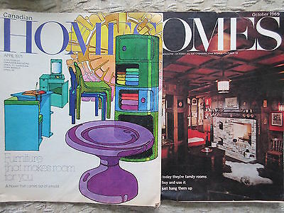 2 Old Issues Canadian Homes Magazine Oct 1969 & April 1971