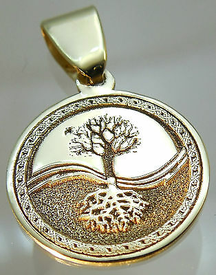 Pendant Celtic Tree of Life Amulet Jewelry Solid Gold 9 karat (375) Gift p403