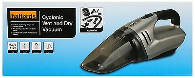 Halfords 12V Wet & Dry Cleaning Vacuum Cleaner Auto Vac 12V LED Indicator