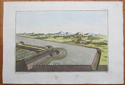Spalart: Ancient Greece Rome Fortification (2) Large Handcolored Print - 1800