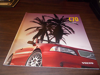1998 Volvo C70 Convertible 26-Page Sales Catalog