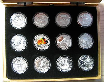 2013 Proof $10 O Canada COMPLETE SET all 12 coins w/ Display Box & COAs