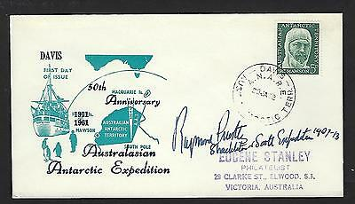 Raymond Priestley Signed cover Member of the Shackleton Expedition Antarctica