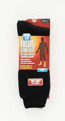 MENS Thermal HEAT CONTROL Thick Brushed Socks 2.3 TOG