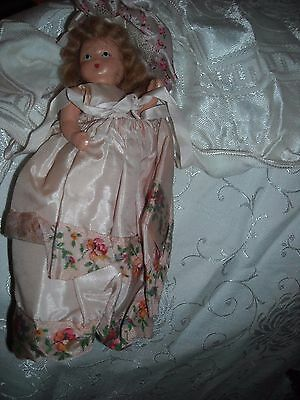 vintage old tlc composition storybook doll toy in pretty pink dress