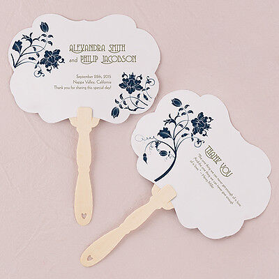 24 - Floral Orchestra Personalized Hand Fan - 15 Colors - Wedding Party Favor