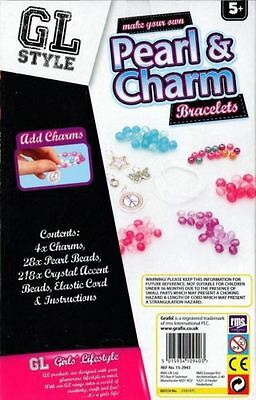 Grafix Make Your Own Pearl & Charms Bracelet Making Kit Girls Kids Jewellery Set