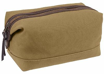 Coyote Brown Canvas & Leather Travel Kit Rothco 91260