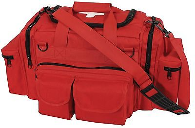 Red EMT Medical Tactical Emergency Trauma Shoulder Bag EMS Medic Bag