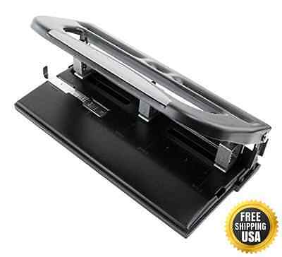 Heavy Duty Adjustable 3 Hole Punch Up To 30 Sheets New
