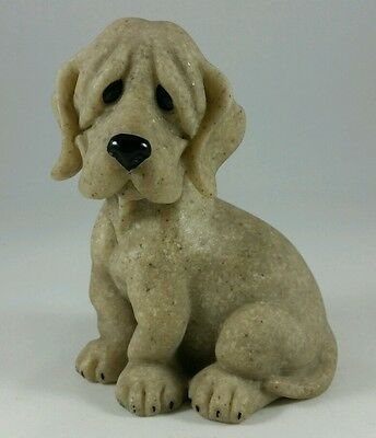 """quarry Critters"" Bloodhound Puppy Dog ""peewee""  Second Nature Design 4"" Vg Cond"