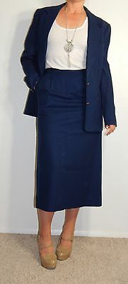 VTG Vintage Pendleton Navy 2 Piece Wool Suit Jacket and Blazer Size 10 Halloween