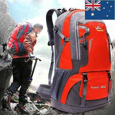 60L Travel Large Rucksack Bag Camping Hiking Backpack Luggage Trekking Outdoor