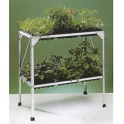 Parasene Galvanised Steel Two Tier Greenhouse Seed Tray Staging + 6 Trays