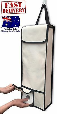 NEW Toilet Paper Roll Storage Organiser Holder Bathroom Hanging on door or wall