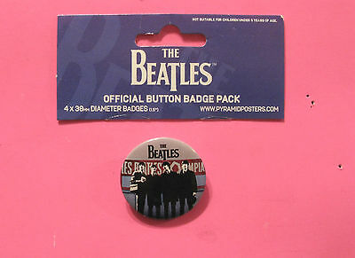 Large New Official Beatles Button  Badge Official Uk Made