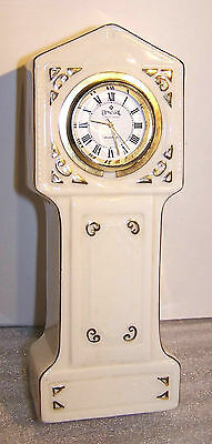 Lovely Irish Parian Donegal China Grandfather Clock & Working Quartz Movement