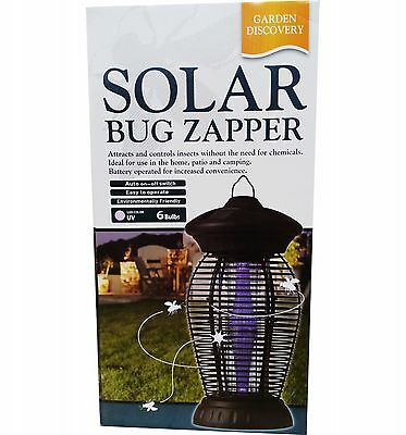 Solar Bug Zapper Garden Discovery  Free Postage Superfast Delivery..!!!