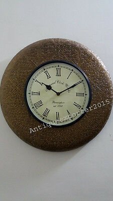 Beautiful Old Hand Carving Nautical  Wall Clock Home / Office Decor Replica Item