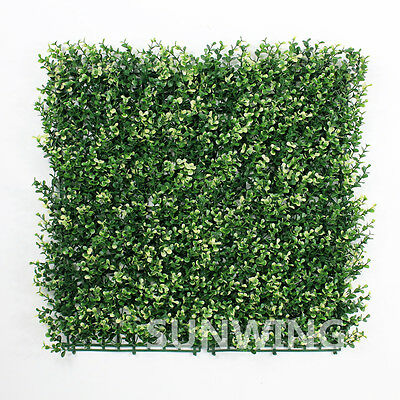 ULAND Artificial Long Boxwood Leaf Mat Privacy Fence Screen  Greenery Panel 6pc