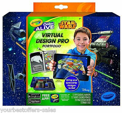 Crayola Virtual Design Pro Star Wars Coloring Book Kids Coloring Books Brand New