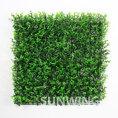 ULAND Artificial Hedge Boxwood Long Leaf UV Mat Privacy Fence Screen 6pc Green
