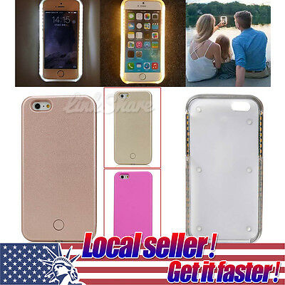 US Shipping LED Light Up Latest LUME Selfie Phone Case Cover For iPhone 6/6plus