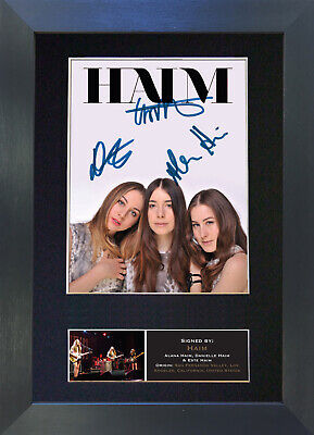 HAIM Signed Mounted Autograph Photo Prints A4 453