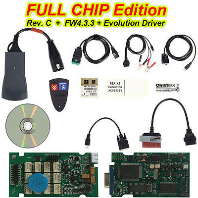 FULL CHIP+Diagbox v7.855 Lexia 3 Diagnostic Interface for Citroen Peugeot (64bit
