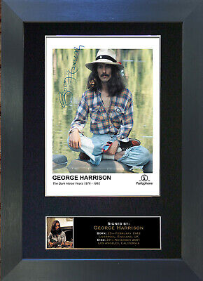 GEORGE HARRISON Beatles Signed Mounted Autograph Photo Prints A4 172