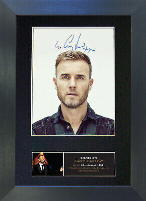 GARY BARLOW Take That Signed Mounted Autograph Photo Prints A4 402