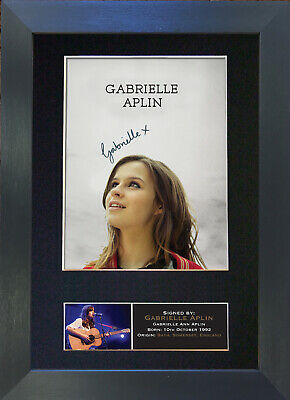 GABRIELLE APLIN Signed Mounted Autograph Photo Prints A4 381