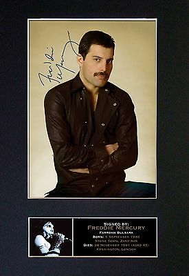 FREDDIE MERCURY Queen Signed Mounted Autograph Photo Prints A4 65