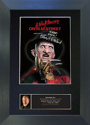 ROBERT ENGLUND Freddie Kruger Signed Mounted Autograph Photo Prints A4 381