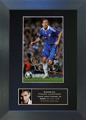 FRANK LAMPARD Chelsea Signed Mounted Autograph Photo Prints A4 38