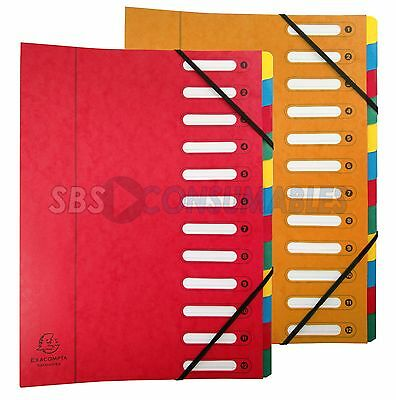 Exacompta Harmonika A4 Document Organiser File Multipart Folder 12 Part Divider