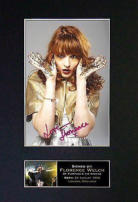 FLORENCE WELCH Signed Mounted Autograph Photo Prints A4 249